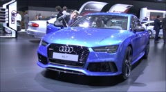 World premiere Audi RS7 Sportback quattro - stock footage