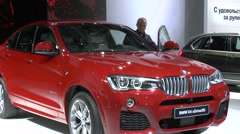 The new crossover BMW X4 xDrive35i Stock Footage