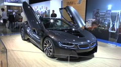 Hybrid sports car BMW i8 Stock Footage