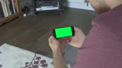 Green Screen iPhone 5s Horizontal Living Room Stock Footage