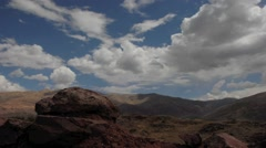 Wide angle time-lapse of clouds over mountains in the Andes, Peru Stock Footage