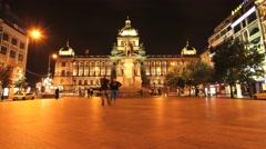 4K Timelapse of the Wenceslas square in Prague Stock Footage