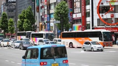 Cars moving in Tokyo, Japan Stock Footage