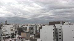 4K Timelapse of the Moody sky over Buenos Aires Stock Footage