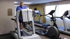Treadmill workout Stock Footage