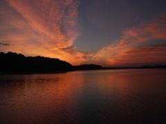 Stock Video Footage of Sunrise on Arkansas Lake 02