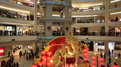 People shopping in Suria KLCC mall Stock Footage