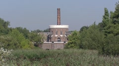 Backside Cruquius steam pumping station,  Haarlemmermeer, The Netherlands Stock Footage