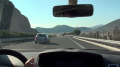 Driving on National Road of Korinthos-Tripoli in Greece Stock Footage