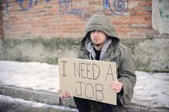 Unemployed man Stock Photos