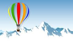 The hot-air balloon Piirros
