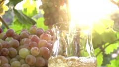 Grape Juice and Sun - stock footage