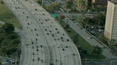 Aerial of Interstate 4 in Central Florida 03 Stock Footage