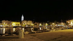 Supetar by night Stock Footage