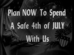 "Animated Movie Theater Announcement ""4th Of July"" Stock Footage"