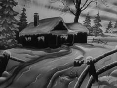 """Animated Winter Scene """"House With People Inside"""" - stock footage"""
