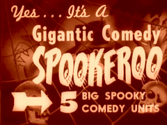 "Halloween Movie Theater Announcement ""Giant Spookeroo Show"" Stock Footage"