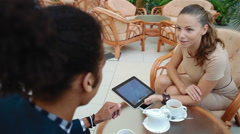 Business meeting of young creative people of different races. - stock footage