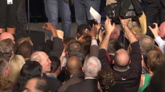 Stock Video Footage of media at political election night victory interior