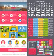 Website design template Stock Illustration