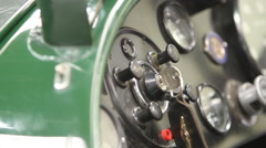 Lagonda Classic Racing Car Key Turn 2 Stock Footage