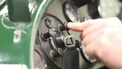 Lagonda, Le Mans, Racing Car, Engine Start Button Stock Footage