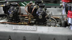 Lagonda, Le Mans, Racing Car Stock Footage