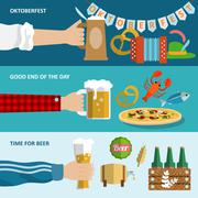 Beer banner set - stock illustration