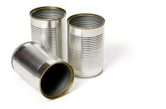 Stock Photo of blank metal can isolated
