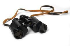 Binoculars isolated Stock Photos