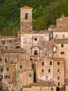 Medieval sorano town in italy Stock Photos