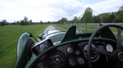 Lagonda Classic Racing Car - POV Stock Footage