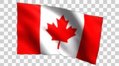 Canada Flag Waving Slow Stock Footage