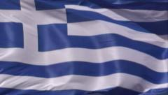 Greek Flag - close up 3 Stock Footage