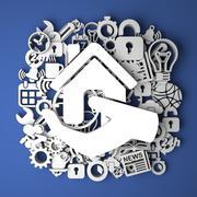 Stock Illustration of Real Estate Concept - Handmade Decoration.