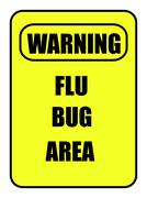 flu bug area sign - stock illustration