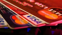 Footage Online Payments Credit Cards Macro Stock Footage