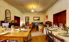 dining room in whaley house museum, old town of san diego - stock photo