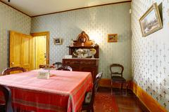 room in whaley house museum, old town of san diego - stock photo