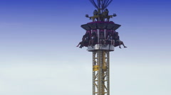 Tower of Terror Ride at the County Fair Stock Footage