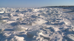 Winter shore of Hudson Bay, Manitoba, Canada. Stock Footage