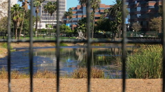 Famous La Brea Tar Pits, Miracle Mile, California Stock Footage