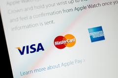apple computers website announci apple pay - stock photo