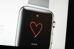 apple computers website with apple digital touch watch - stock photo