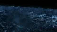 Rough Seas at Night Animation Stock Footage