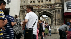 Cathedral Gate, Canterbury, Kent, England, United Kingdom Stock Footage