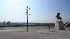 4k Timelapse of the view from the Castle in Bratislava, Slovakia - stock footage