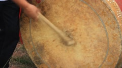 Performing drum in folk festival,  Asia Stock Footage