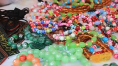 Jewelry lucky in Asian markets Stock Footage