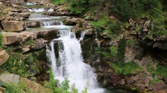 Waterfall de Soaso in Arazas river Ordesa valley Pyrenees Stock Footage
